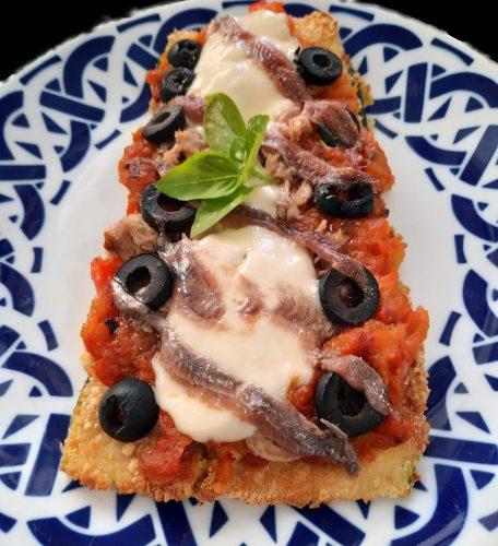 pizza de calabacin